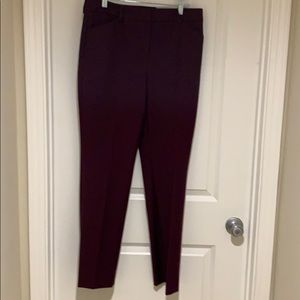 Classy burgundy stretch slacks from Chico's.